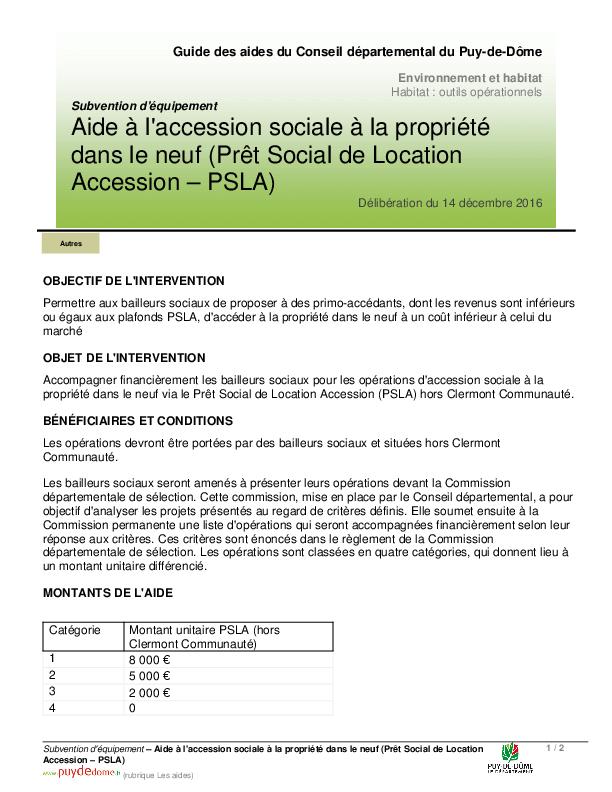 Aide A L Accession Sociale A La Propriete Dans Le Neuf Pret Social