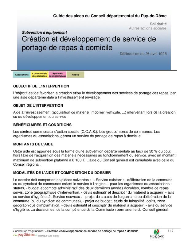 Cr Ation Et D Veloppement De Service De Portage De Repas